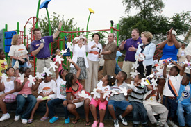 Ribbon Cutting Ceremony at the New Playground at Fannie C. Williams Elementary School.