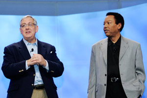 Michael Willner and Johnathan Rodgers at The Cable Show '09 Opening General Session.