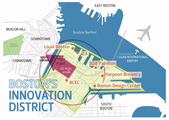 Boston's Innovation District courtesy www.innovationdistrict.org